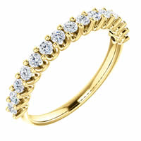 Item # SR128858050E - 18K Gold Eternal-Love Anniversary Ring. 0.50CT