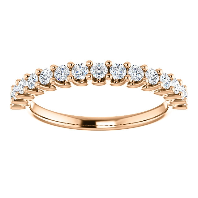 Item # SR128858050R View 3 - 14K Eternal-Love Anniversary Band Rose Gold. 0.50CT