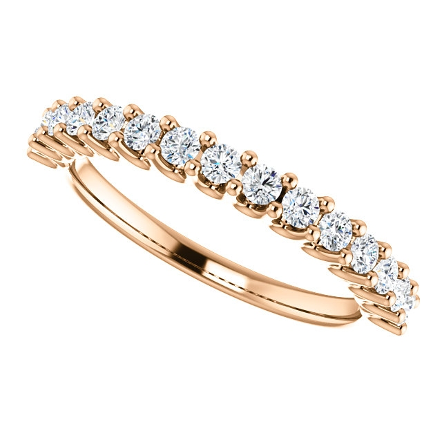 Item # SR128858050R View 5 - 14K Eternal-Love Anniversary Band Rose Gold. 0.50CT