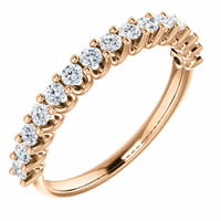 Item # SR128858050R - Eternal-Love Anniversary Band Rose Gold. 0.50CT