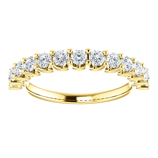 Item # SR128858075 View 3 - Eternal_love Gold Anniversary Ring. 0.75CT