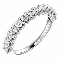 Item # SR128858075PP - Platinum Eternal-Love Anniversary Band. 0.75CT