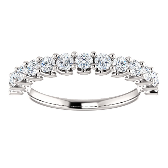 Item # SR128858075W View 3 - 14K Eternal-Love White Gold Anniversary Band.
