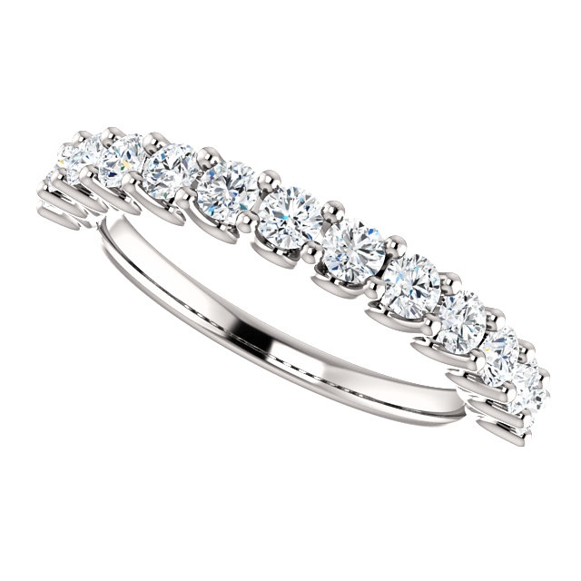 Item # SR128858075W View 5 - 14K Eternal-Love White Gold Anniversary Band.