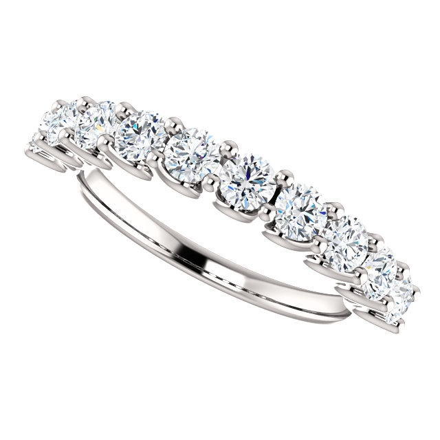 Item # SR128858100W View 5 - White Gold Eternal-Love Anniversary Ring. 1.0CT