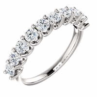 Item # SR128858100WE - 18K White Gold Eternal-Love Anniversary Ring. 1.0CT