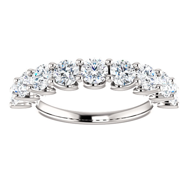 Item # SR128858175W View 3 - 14K White Gold Eternal-Love Anniversary Ring. 1.75CT