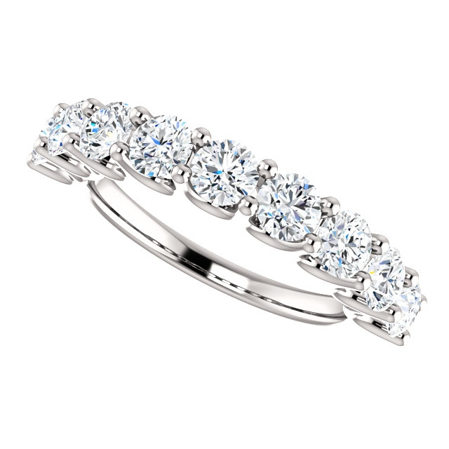 Item # SR128858175W View 5 - 14K White Gold Eternal-Love Anniversary Ring. 1.75CT