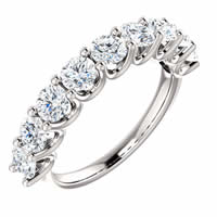 Item # SR128858175W - 14K White Gold Eternal-Love Anniversary Ring. 1.75CT