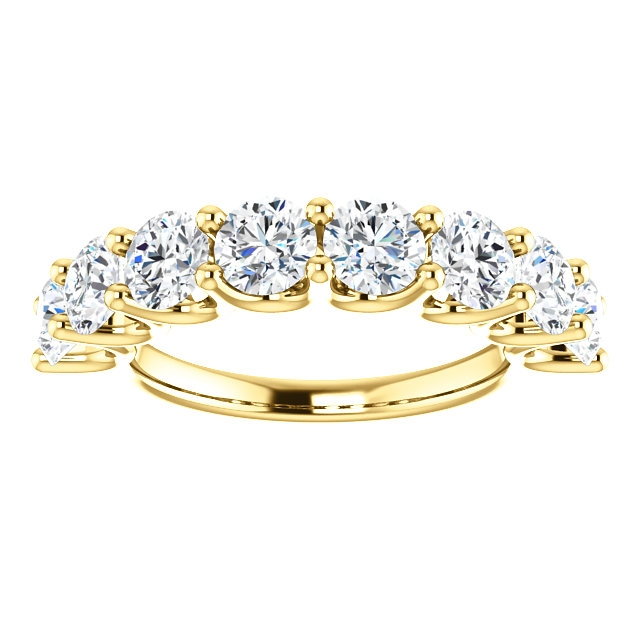 Item # SR128858250 View 3 - 14K Eternal-Love Gold Anniversary Band. 2.50CT
