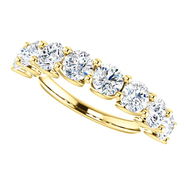 Item # SR128858250 View 5 - 14K Eternal-Love Gold Anniversary Band. 2.50CT
