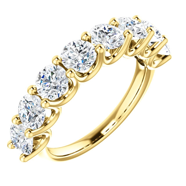 Item # SR128858250 - Eternal-Love 14K gold anniversary band. the ring holds 8 round brilliant diamonds with total weight of 2.50ct. The diamonds are graded as SI1 in clarity G-H in color.
