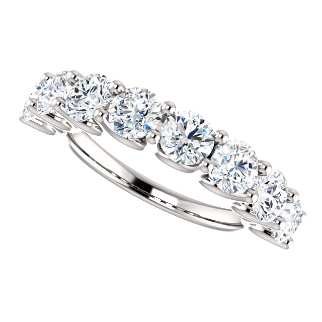 Item # SR128858250W View 5 - Eternal-Love 14K White Gold Anniversary Band. 2.50CT