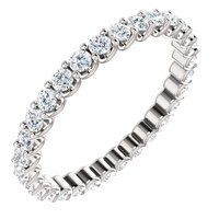 Item # SR128869100PP - Eternal-Love Eternity Band. Platinum 1.0CT TW.