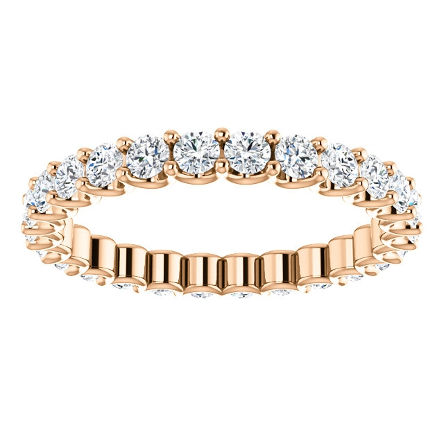 Item # SR128869100R View 3 - Rose Gold Eternal-Love Eternity Band. 1.0CT TW