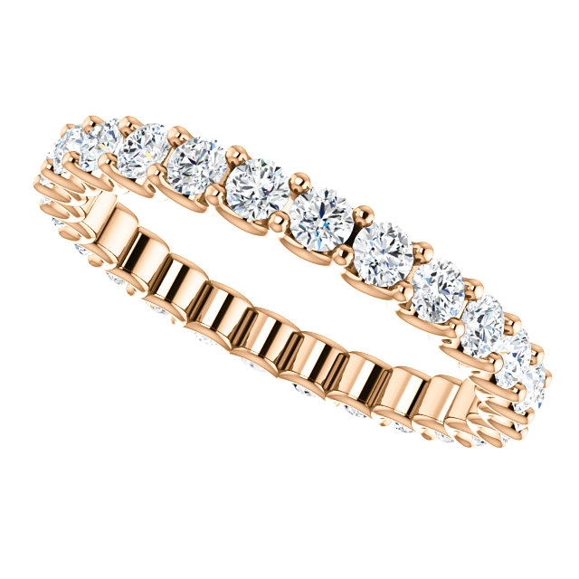 Item # SR128869100R View 5 - Rose Gold Eternal-Love Eternity Band. 1.0CT TW