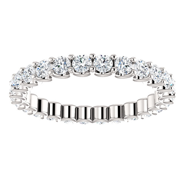 Item # SR128869100W View 3 - Eternal-Love Eternity Band. 1.0CT TW.