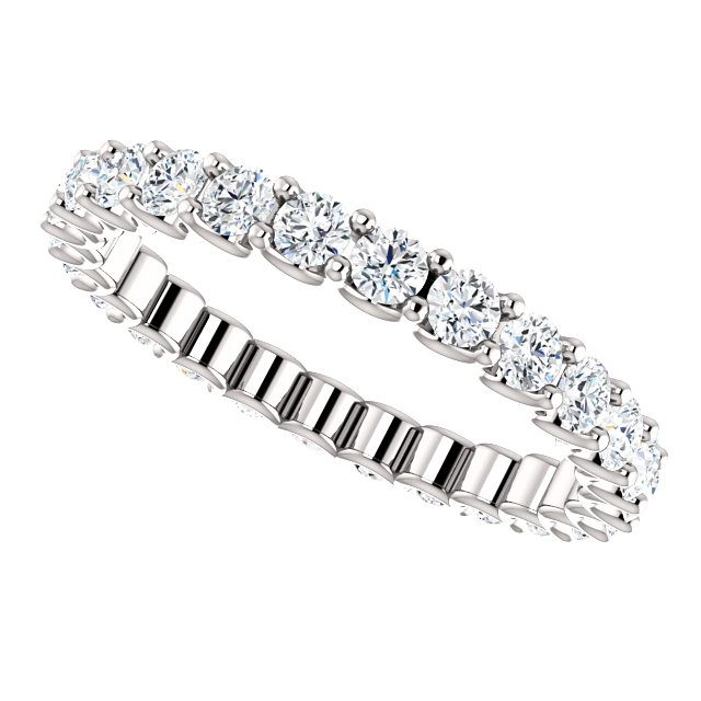 Item # SR128869100W View 5 - Eternal-Love Eternity Band. 1.0CT TW.