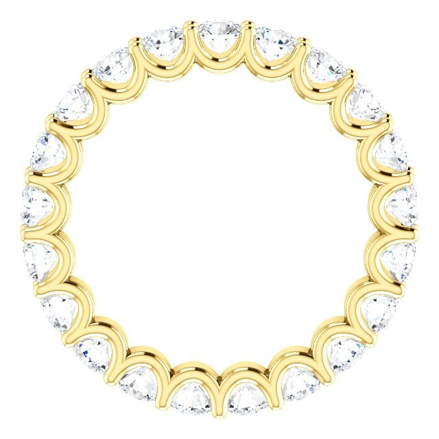 Item # SR128869210E View 2 - Eternal-Love Eternity Band. 18K Gold. 2.10CT TW