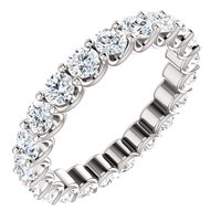 Item # SR128869210PP - Platinum Eternal-Love Eternity Band. Platinum, 2.0CT