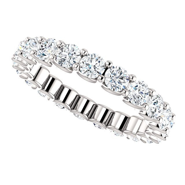 Item # SR128869210W View 5 - Eternal-Love Eternity Band. 2.10CT