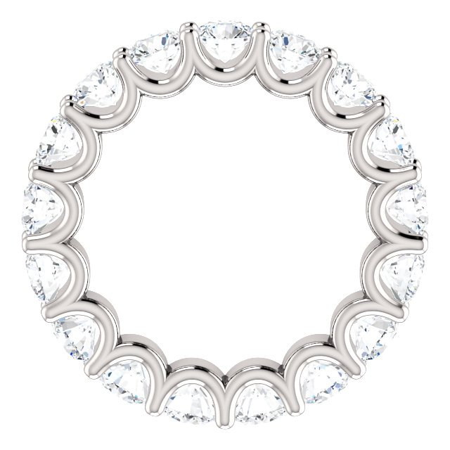 Item # SR128869350W View 2 - 14K Eternal-Love Eternity Band White Gold. 3.5CT