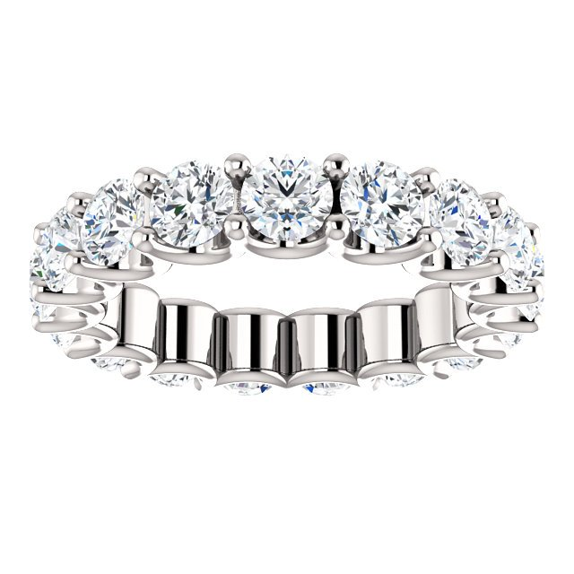 Item # SR128869350W View 3 - 14K Eternal-Love Eternity Band White Gold. 3.5CT