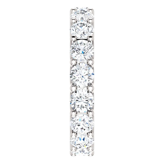 Item # SR128869350W View 4 - 14K Eternal-Love Eternity Band White Gold. 3.5CT