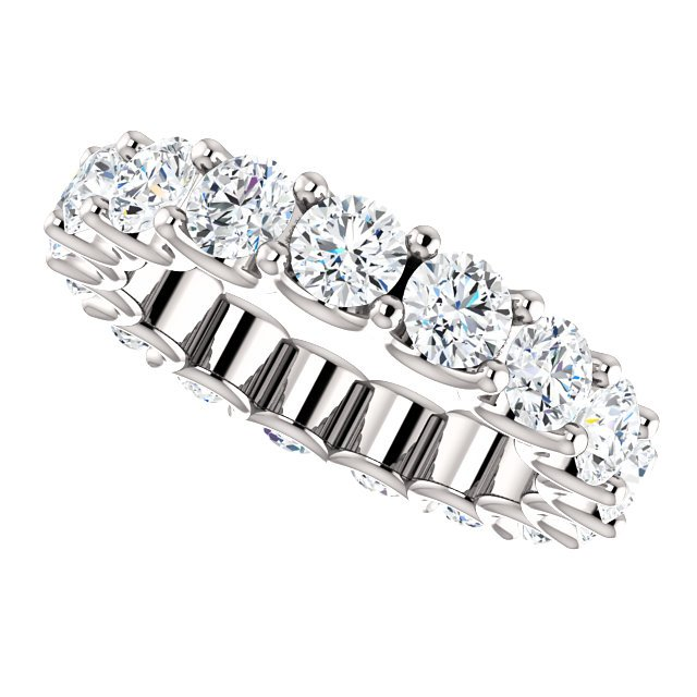 Item # SR128869350W View 5 - 14K Eternal-Love Eternity Band White Gold. 3.5CT