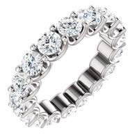 Item # SR128869350W - Eternal-Love Eternity Band White Gold. 3.5CT