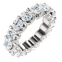 Item # SR128869525PP - Platinum Eternal-Love Platinum Eternity Band. 5.25CT