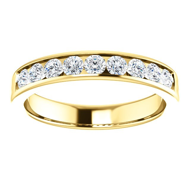 Item # SR9128811E View 3 - 18K Diamond Wedding Band 1.0CT