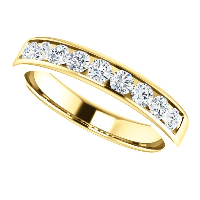 Item # SR9128811E View 5 - 18K Diamond Wedding Band 1.0CT