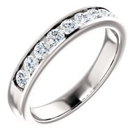 Item # SR9128811PP - Platinum Diamond Wedding Band