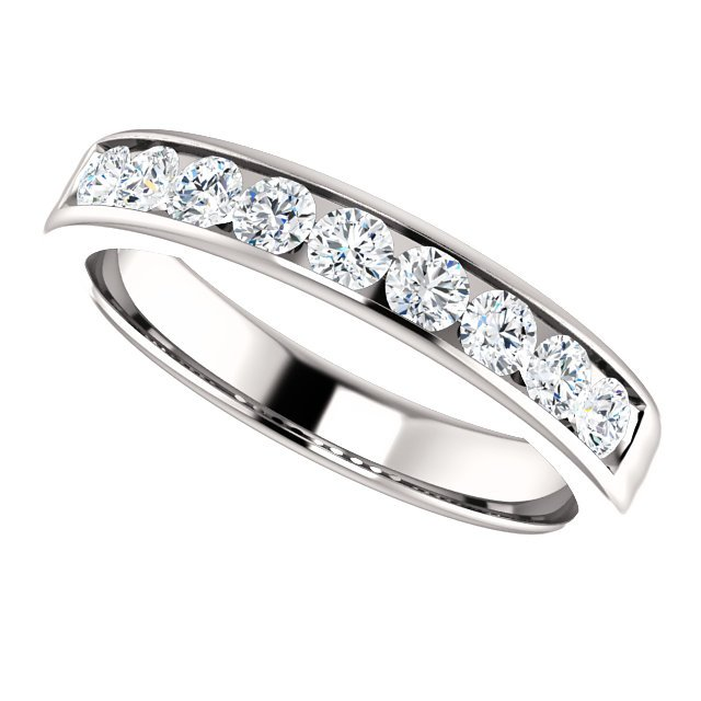 Item # SR9128811W View 5 - 14K Diamond Wedding Ring 1.0CT