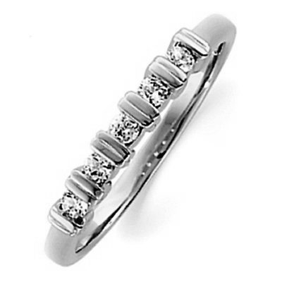 Item # ST11881PP - Platinum, 2.5 mm wide, anniversary band, holds 5 round brilliant cut diamonds with total weight approximately 0.15 ct. The diamonds are graded as VS1-2 in clarity G-H in color. The finish on the ring is polished. Other finishes may be selected or specified.