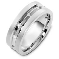 Item # T125611WE - 18K White Gold Wedding Band.