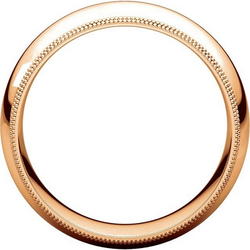 Item # TD123898RE View 2 - 18K Rose Gold 8mm Double Milgrain Wedding Band