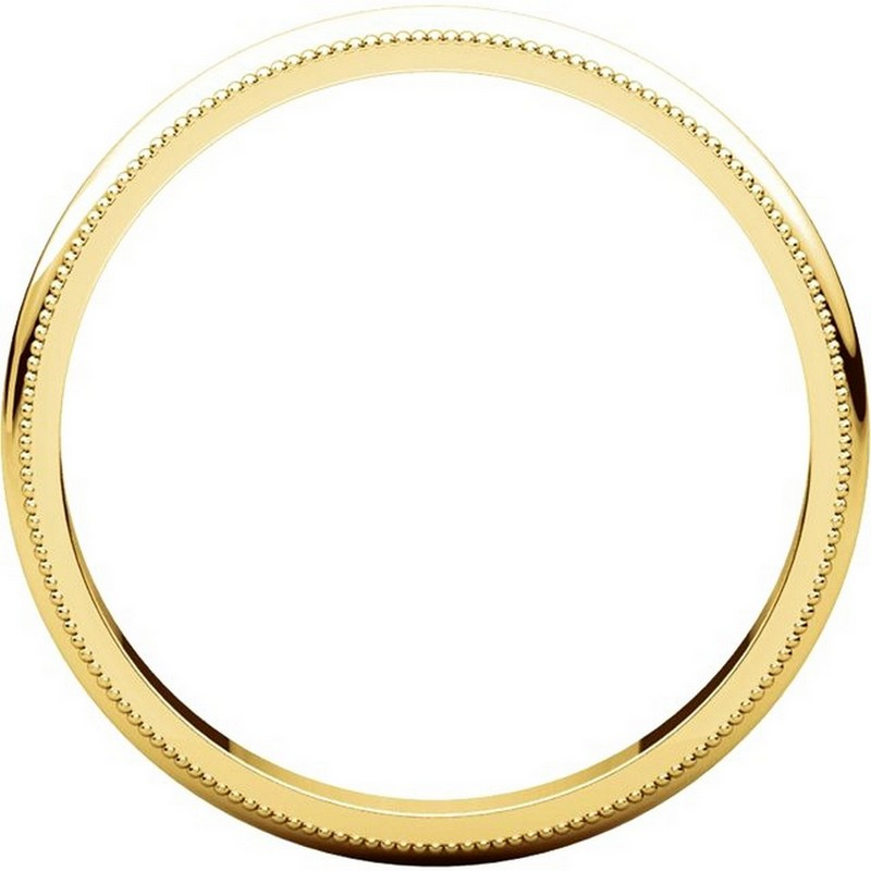 Item # TH238425E View 2 - 18K Gold Comfort Fit 2.5mm Milgrain Edge Ring