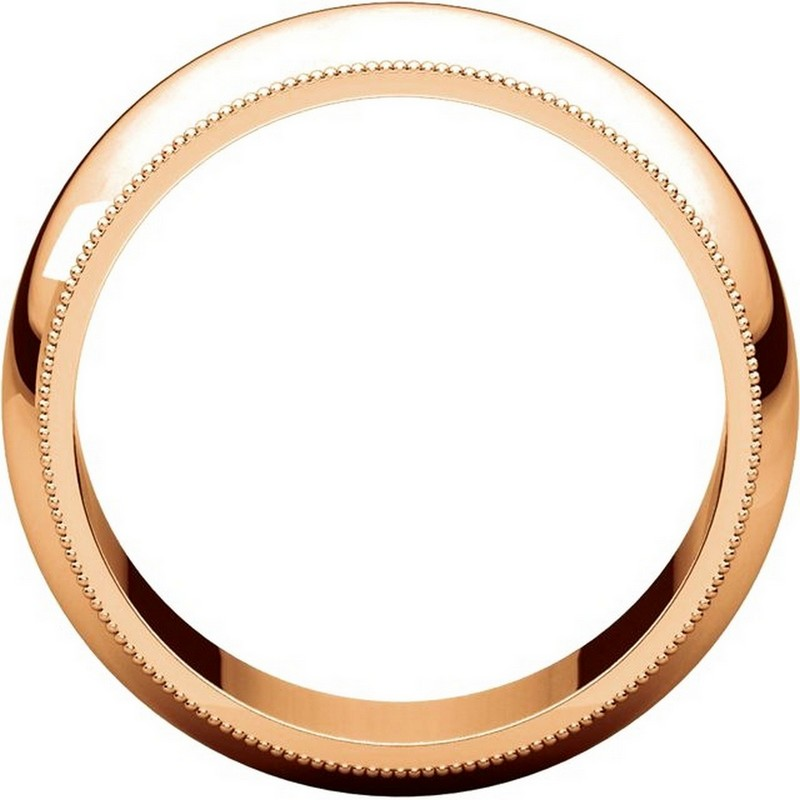 Item # TX1238910R View 2 - 14K Rose Gold Comfort Fit Milgrain 10mm Wedding Band