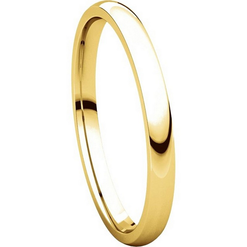 Item # U123781 View 5 - 14K Gold 2mm Wide Comfort Fit Wedding Band