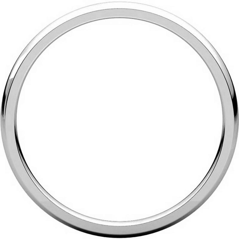 Item # U123781PP View 2 - Platinum 2mm Comfort Fit Plain Wedding Ring