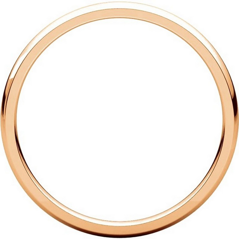 Item # U123781RE View 2 - 18K Rose Gold 2mm Comfort Fit Plain Wedding Ring