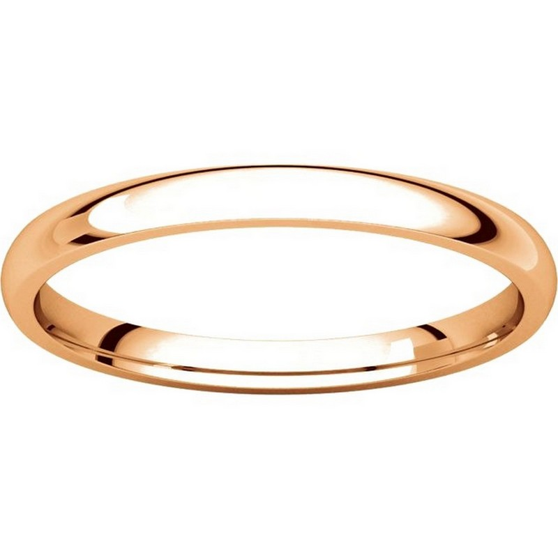 Item # U123781RE View 3 - 18K Rose Gold 2mm Comfort Fit Plain Wedding Ring