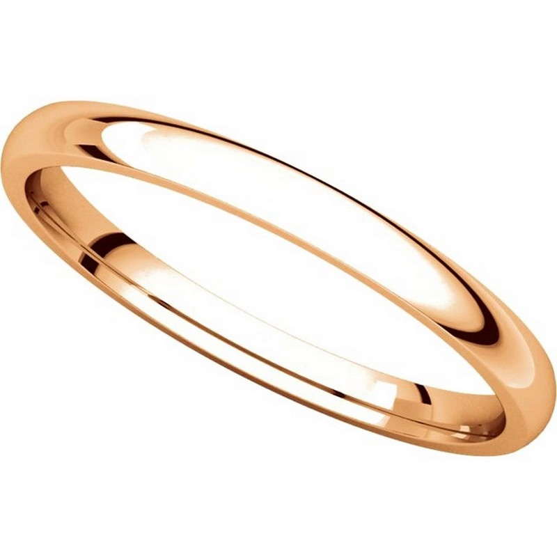 Item # U123781RE View 4 - 18K Rose Gold 2mm Comfort Fit Plain Wedding Ring