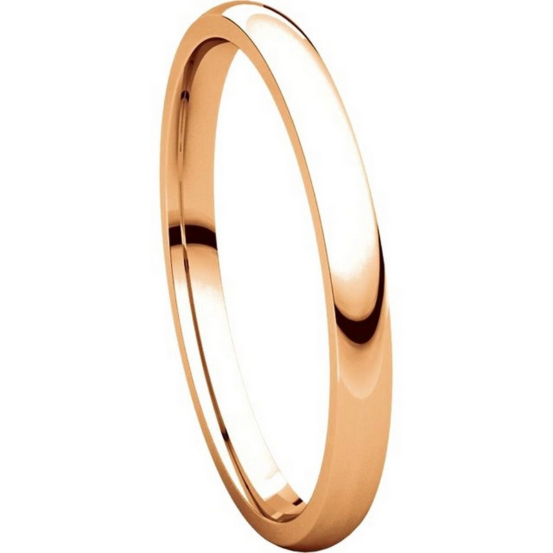 Item # U123781RE View 5 - 18K Rose Gold 2mm Comfort Fit Plain Wedding Ring
