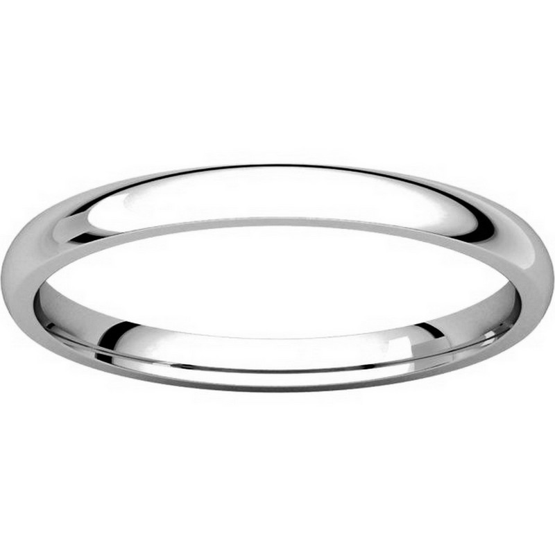 Item # U123781W View 3 - 14K White Gold 2mm Comfort Fit Plain Wedding Ring