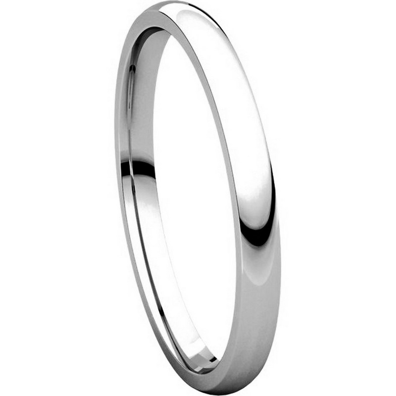 Item # U123781W View 5 - 14K White Gold 2mm Comfort Fit Plain Wedding Ring