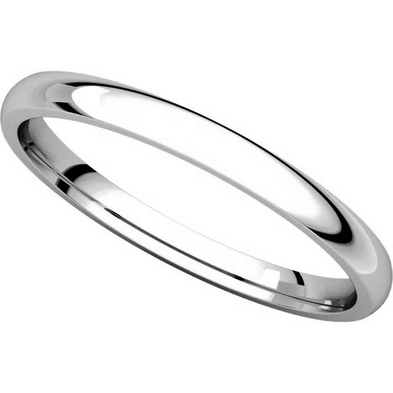 Item # U123781WE View 4 - 18K White Gold 2mm Comfort Fit Plain Wedding Ring