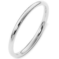 Item # UH123782AG - Silver 2mm  Heavy Comfort Plain Band
